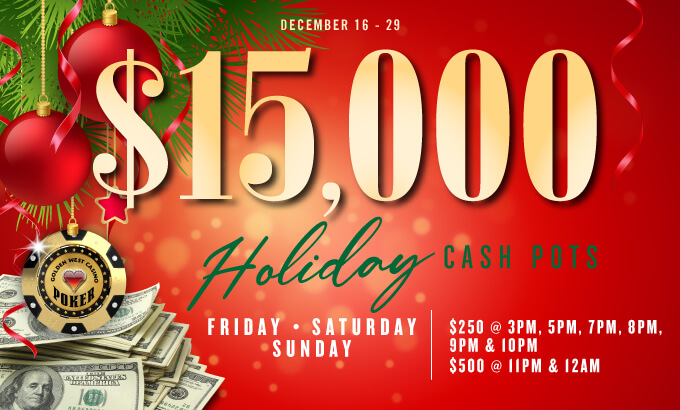 $15K Holiday Cash Pots