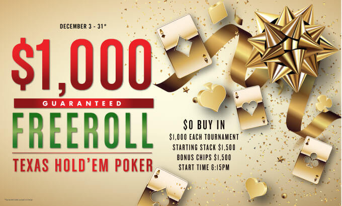 $1K Freeroll Texas Hold'em Poker