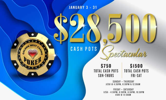 $28,500K Holiday Cash Pots Spectacular