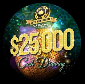 25th Anniversary $25K Cash Drawing Image