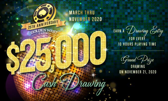 25th Anniversary $25K Cash Drawing